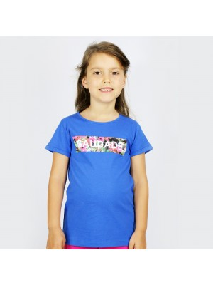 T-Shirt Kid Saudade Flowers Blue