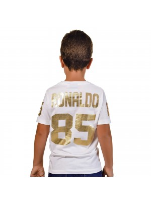 T-Shirt Ronaldo 85 Gold Kid