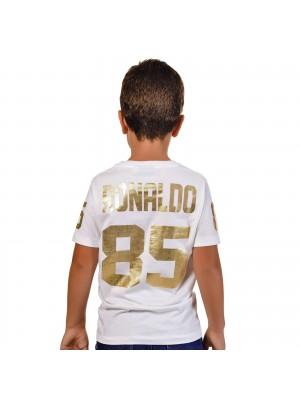 T-Shirt Ronaldo 85 Ouro Kid