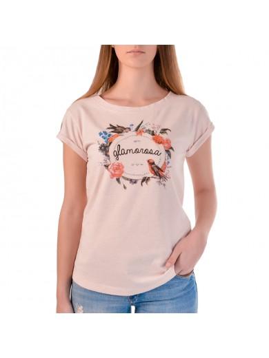 T-Shirt Glamorosa Rosa