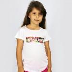 T-Shirt Kid Saudade Flowers Blue