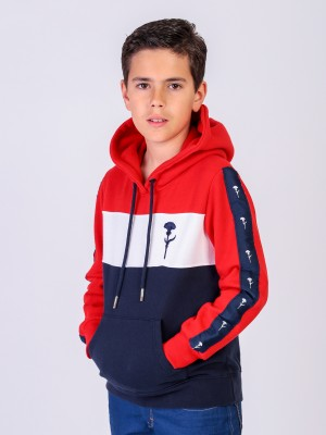 SWEAT CAPUZ TRICOLOR KID