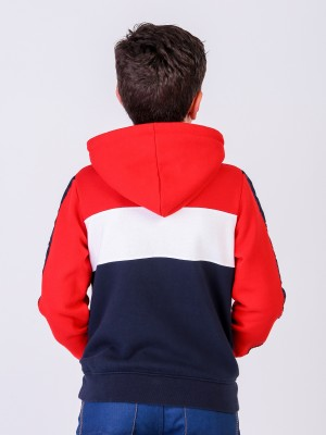 SWEAT CAPUZ TRICOLOR ENFANT